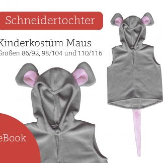 Schnittmuster Kostüm Maus für Kinder